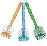 24now 3er Pack Mixtopf Spülbürste mit Nylonborsten - ideal zum Reinigen von Mixtöpfen wie z.B. Thermomix  TM5/TM31 und Mixtöpfe Anderer Hersteller - je 1x in Blau/Grün/Orange
