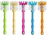 Deine Bürste - 5er Set Mixtopf Reinigungsbürste zum Reinigen von z.B. Thermomix  TM5, TM31, TM21 und Bimby TM 5 , Zubehör Spülbürste je (1x Grün/ 1x Gelb/ 1x Pink/ 1x Blau/ 1x Orange)