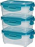 Amazon Basics - Frischhaltedosen-Set, luftdicht, 6-teiliges , 3 x 0.6 L Set