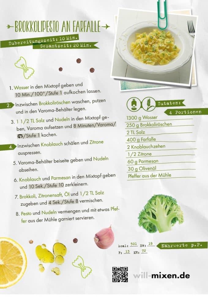 Farfalle mit Brokkoli-Pesto aus dem Thermomix®