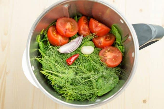 Grüner Smoothie Tiffin aus dem Thermomix® Zutaten im Mixtopf