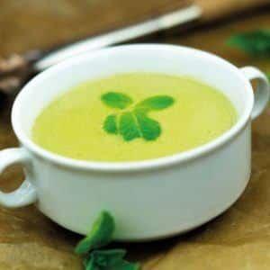 Rezept - Erbsen Minz Suppe