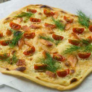 Rezept Flammkuchen Lachs