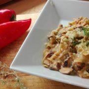 One-Pot-Pasta mit Paprika und Champignons aus dem Thermomix®