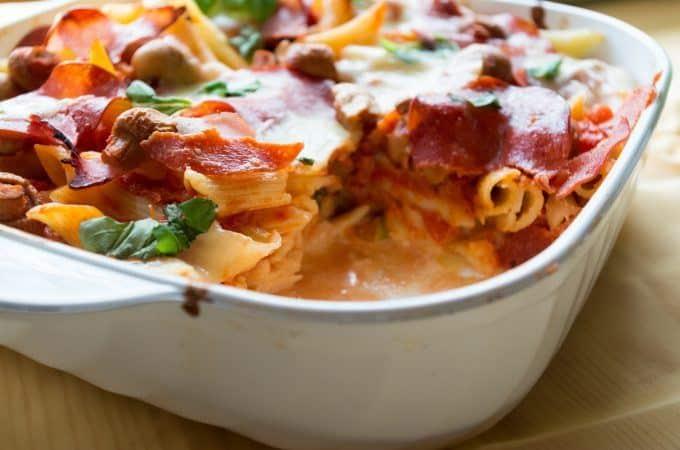 Pizza-Pasta-Auflauf aus dem Thermomix lecker!