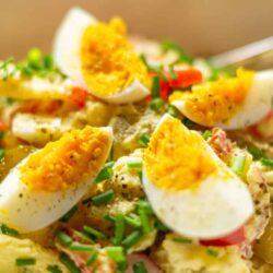 Bunter Kartoffelsalat aus dem Thermomix® mit Ei