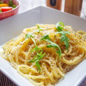 Spaghetti Cacio e Pepe aus dem Thermomix