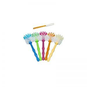Bürsten für die Reinigung des Thermomix® 6er Spar-Set - blau, grün, rosa, pink, orange, gelb, inkl. premium Reinigungsbürste