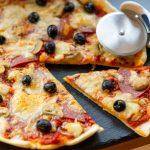 Pfannen-Pizza aus Pizzateig ohne Hefe aus dem dem Thermomix®