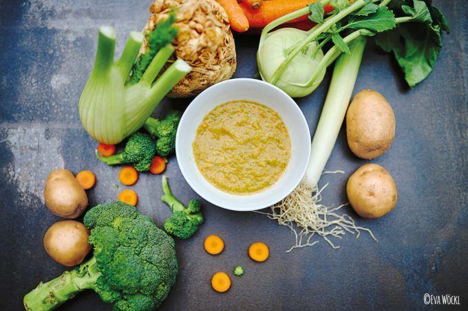 Kartoffel Gemüse Fleischbrei aus dem Thermomix®