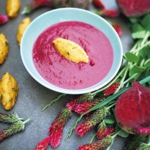 Rote-Bete-Linsen-Suppe mit Nockerln aus dem Thermomix® © Eva Wöckl