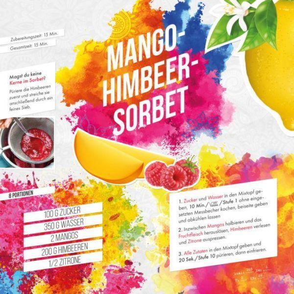 Mango-Himbeer-Sorbet aus dem Thermomix Rezept