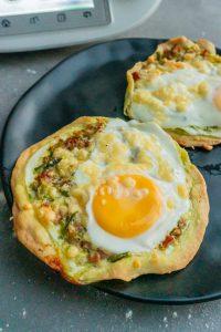 Pizzettis mit Cabanossi und Ei aus dem Thermomix®