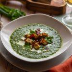 Spinat-Suppe mit Brotkrusties aus dem Thermomix®
