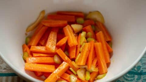 Karotte und Fenchel