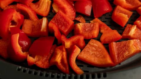 Paprika in Stücken im Varoma schonend dämpfen