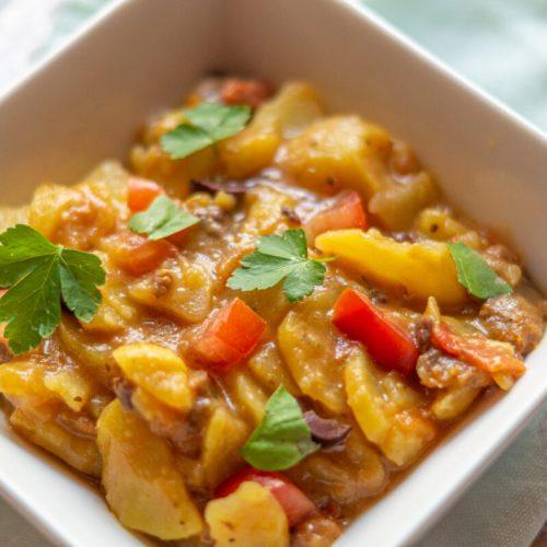 Oliven-Tomaten Kartoffelsalat aus dem Thermomix®