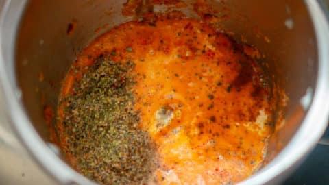 Rigatoni al forno Sauce im Mixtopf