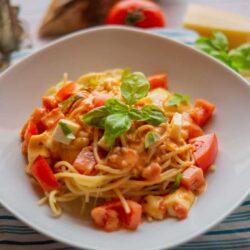 Spaghetti Tomate-Mozzarella aus dem Thermomix®