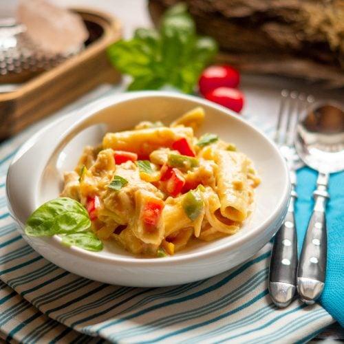 All in One - Hühnchen-Paprika-Tortiglioni aus dem Thermomix®