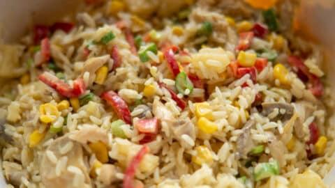 Reissalat aus dem Thermomix vermischen