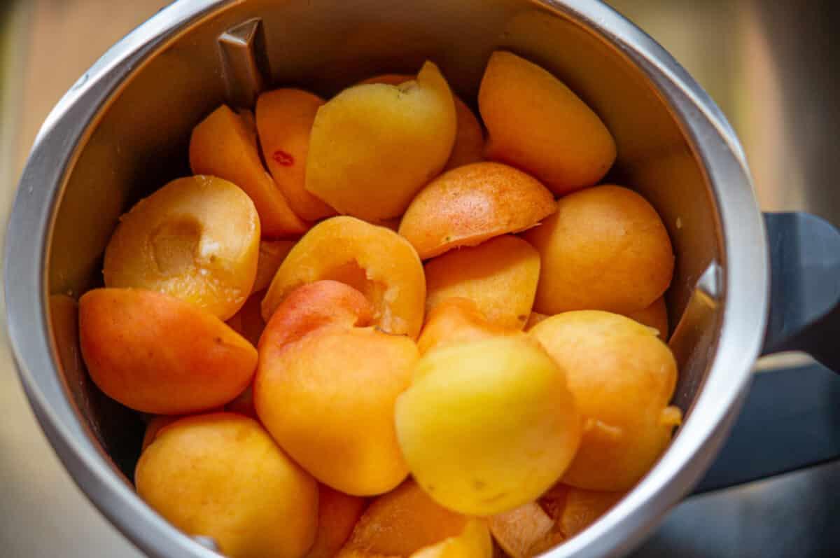 Aprikosen im Mixtopf