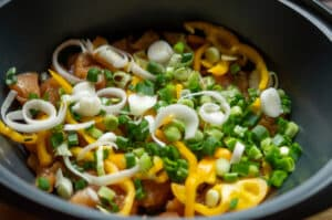 Fleisch und Gemüse im Varoma des Thermomix®