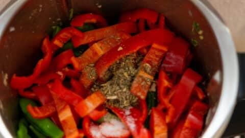 Gemüse im Mixtopf