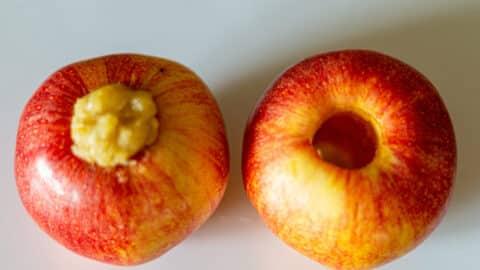 Apfel ausstechen und füllen