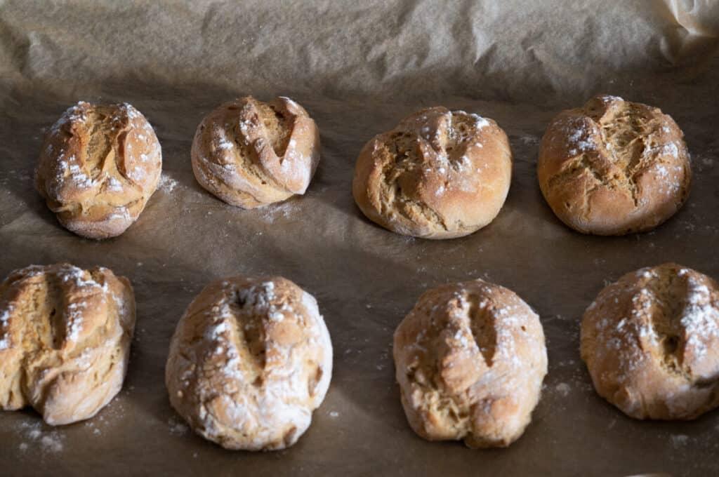 Frisch gebackene Kartoffelbrötchen aus dem Thermomix®
