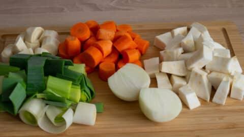 Natürliche Zutaten Gemüsepaste