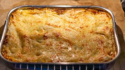 Lasagne aus dem Thermomix® aus dem Ofen