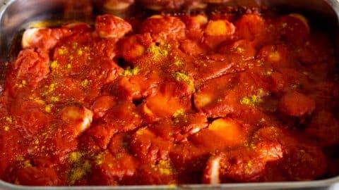 Currywurst im Ofen backen