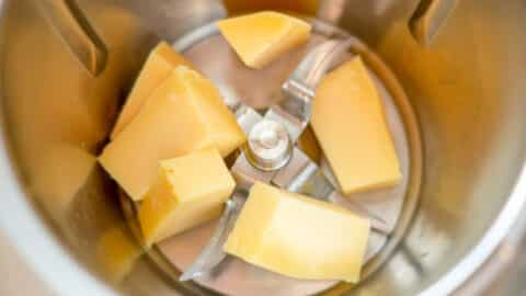 Käse im Mixtopf
