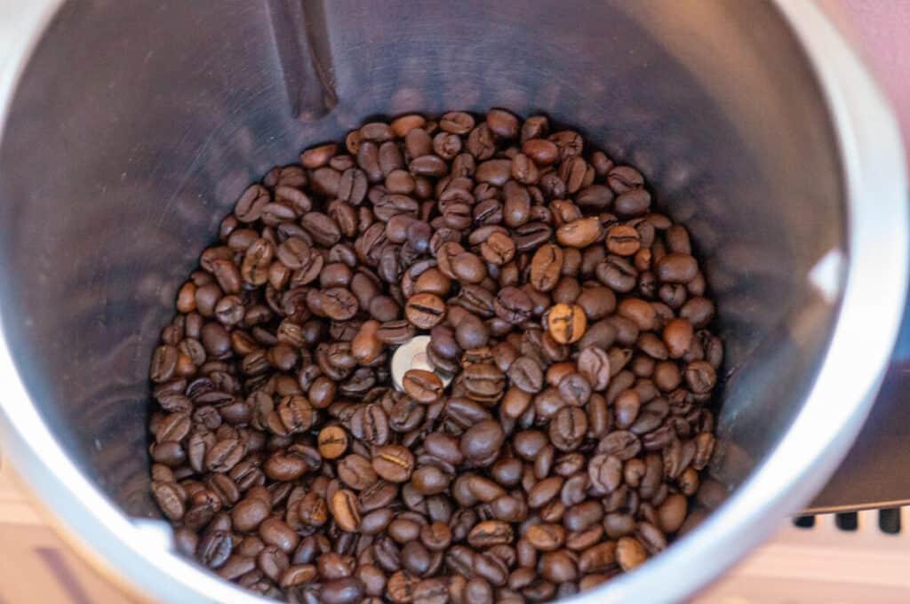 Kaffeebohnen im Thermomix