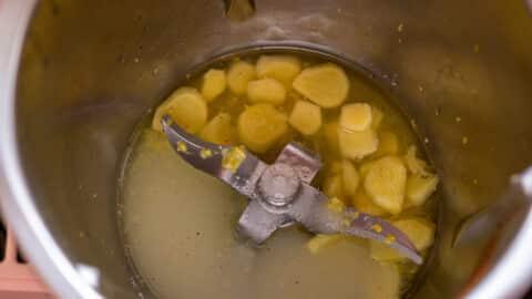 Ingwer und Zitronensaft im Thermomix