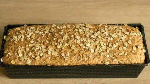 Dinkel-Möhren-Brot Teig nach dem Gehen