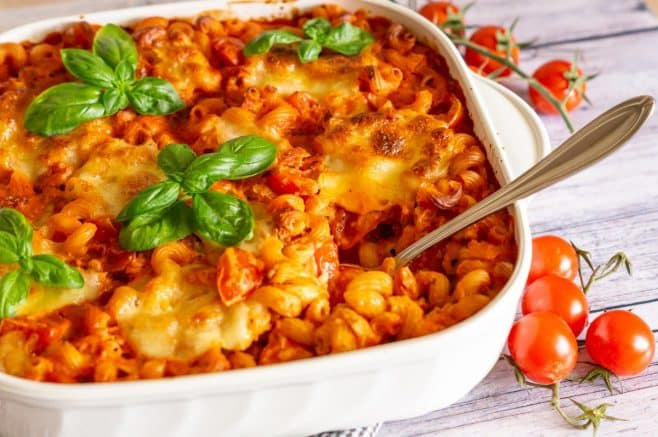 Nudelauflauf Tomate-Mozzarella aus dem Thermomix®