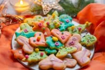 Bunte Weihnachts-Butterplätzchen aus dem Thermomix®